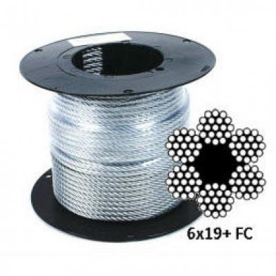 Оцинкованный стальной канат (трос) DIN 3060 (6x19+FC)