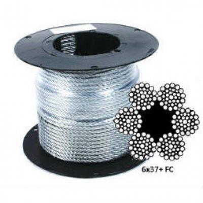 Оцинкованный стальной канат (трос) DIN 3066 (6x37+FC)