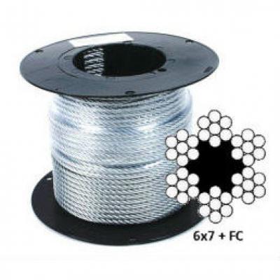 Оцинкованный стальной канат (трос) DIN 3055 (6x7+FC)